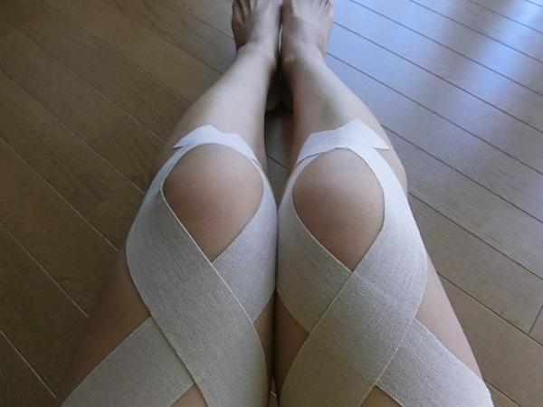 膝の内側のズキズキ痛みを和らげる☆5つのテーピング術